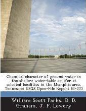 Chemical Character of Ground Water in the Shallow Water-Table Aquifer at Selected Localities in the Memphis Area, Tennessee