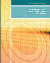 Applied Behavior Analysis: Pearson New International Edition