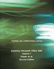 Exploring Microsoft Office 2010, Volume 1: Pearson New International Edition