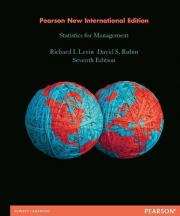 Statistics for Management: Pearson New International Edition