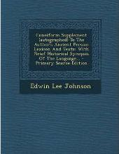 Cuneiform Supplement (Autographed) to the Author's Ancient Persian Lexicon and Texts