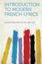 Introduction to Modern French Lyrics