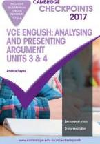 Cambridge Checkpoints VCE English Analysing and Presenting Argument 2017 and Quiz Me More