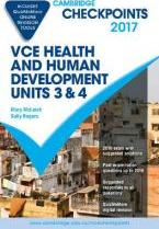 Cambridge Checkpoints VCE Health and Human Development Units 3 and 4 2017 and Quiz Me More
