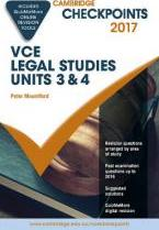 Cambridge Checkpoints VCE Legal Studies Units 3 and 4 2017 and Quiz Me More