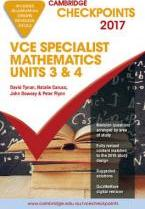 Cambridge Checkpoints VCE Specialist Mathematics 2017 and Quiz Me More