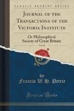 Journal of the Transactions of the Victoria Institute, Vol. 21
