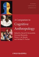 A Companion to Cognitive Anthropology