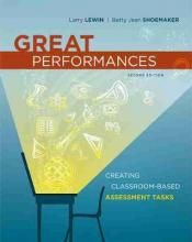 Great Performances : Creating Classroom-Based Assessment Tasks, 2nd Edition
