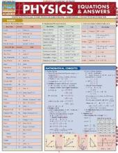 Physics Equations & Answers Laminate Reference Chart