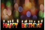 Adult's Birthday Postcard (Package of 25): Happy Birthday with Candles