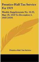 Prentice-Hall Tax Service for 1919