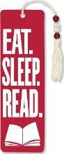 Eat. Sleep. Read. Beaded Bookmark
