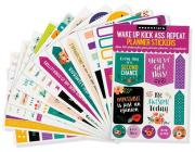 Wake Up, Kick Ass, Repeat Planner Stickers