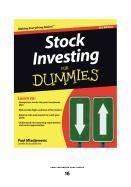 Stock Investing for Dummies(R)