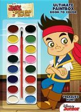 Disney Jake and the Never Land Pirates Treasure Hunt Ultimate Paint Box Book to Color
