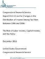 Congressional Research Service Report R42131 on the Changes in the Distribution of Income Among Tax Filers Between 1996 and 2006