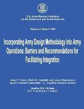Incorporating Army Design Methodology Into Army Operations