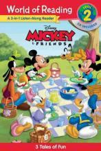 World of Reading Mickey and Friends 3-In-1 Listen-Along Reader (World of Reading Level 2)