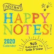 2020 Instant Happy Notes Boxed Calendar