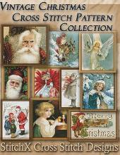 Vintage Christmas Cross Stitch Pattern Collection