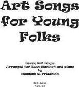 Art Songs for Young Folks - Bass Clarinet and Piano
