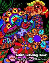 Adult Coloring Book: Stress Relief Flower and Nature Pattern
