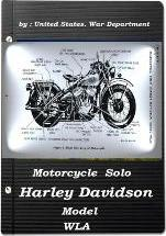 Motorcycle, Solo (Harley Davidson Model Wla) by United States. War Department