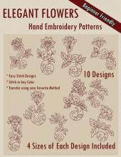 Elegant Flowers Hand Embroidery Patterns