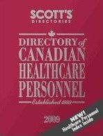 Directory of Canadian Healthcare Personnel 2009