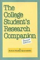 The College Student's Research Companion