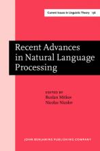 Recent Advances in Natural Language Processing