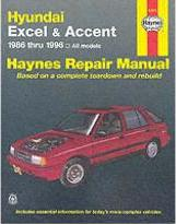 Hyundai Excel and Accent Automotive Repair Manual: 1986 to 1998
