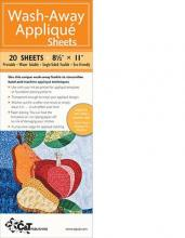 Wash-Away Applique Sheets