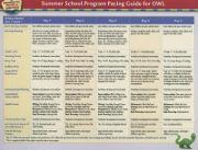 Opening the World of Learning: Summer School Program Pacing Guide for OWL