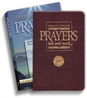 Prayers That Avail Much 25th Anniversary Commemorative Burgundy Leather