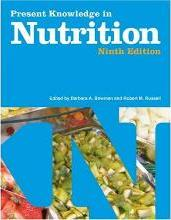 Present Knowlede in Nutrition, Volume 1
