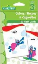 Sesame Street Colors, Shapes & Opposites Flash Cards