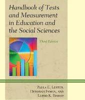 Handbook of Tests and Measurement in Education and the Social Sciences