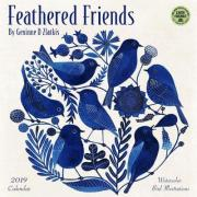 Feathered Friends 2019 Wall Calendar