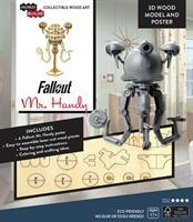 IncrediBuilds: Fallout: Mr. Handy 3D Wood Model and Poster