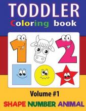Toddler Coloring Books Numbers Shapes Animals