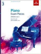 Piano Exam Pieces 2017 & 2018, Grade 3