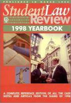 Cavendish: Student Law Review Yearbook 1998