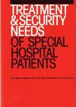 The Treatment and Security Needs of Special Hospital Patients