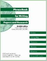 PhraseBook for Writing Papers and Research