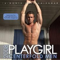 Playgirl Centerfold Men 2008 Calendar