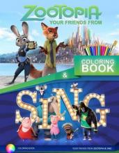 Zootopia and Sing Coloring Book