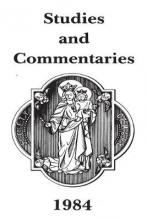 1984 Studies and Commentaries