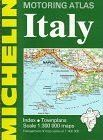 Michelin Motoring Atlas Italy 1997